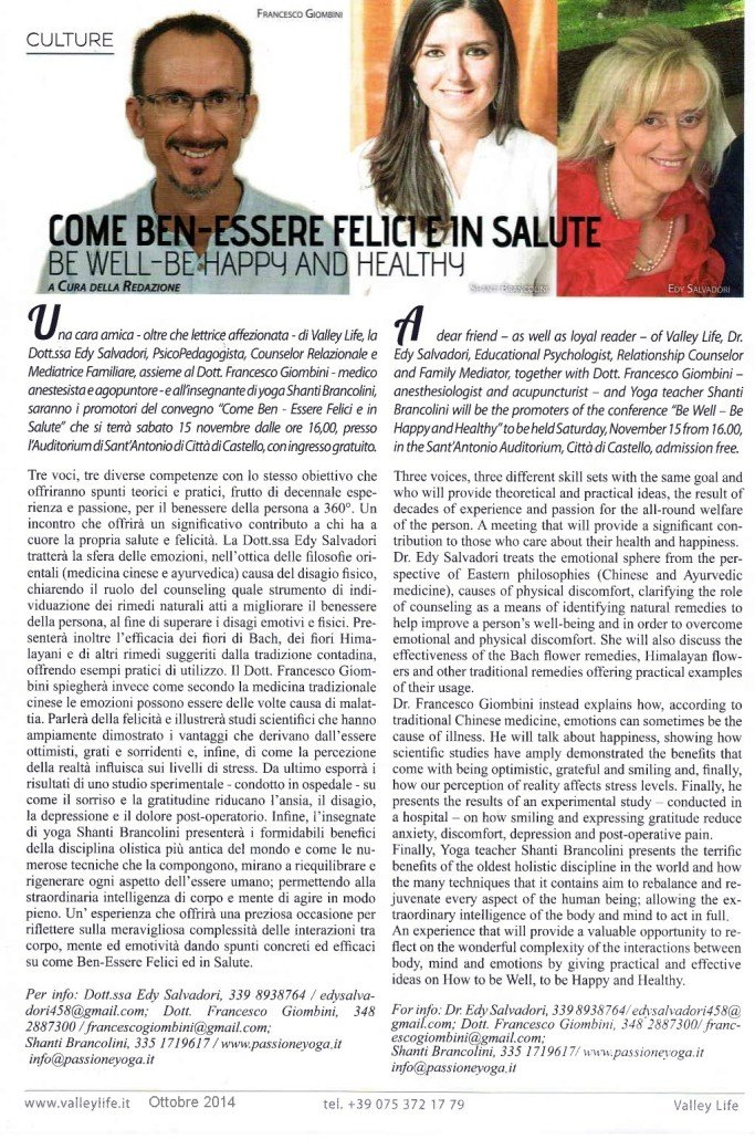 Come Ben-essere Felici e in Salute - Valley Life